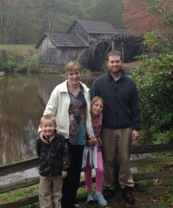 The late Todd Eure is shown with his wife, Courtney Harrington Eure, and children Leah Ruth Jordan Eure and Daniel Carter Edwin Eure.