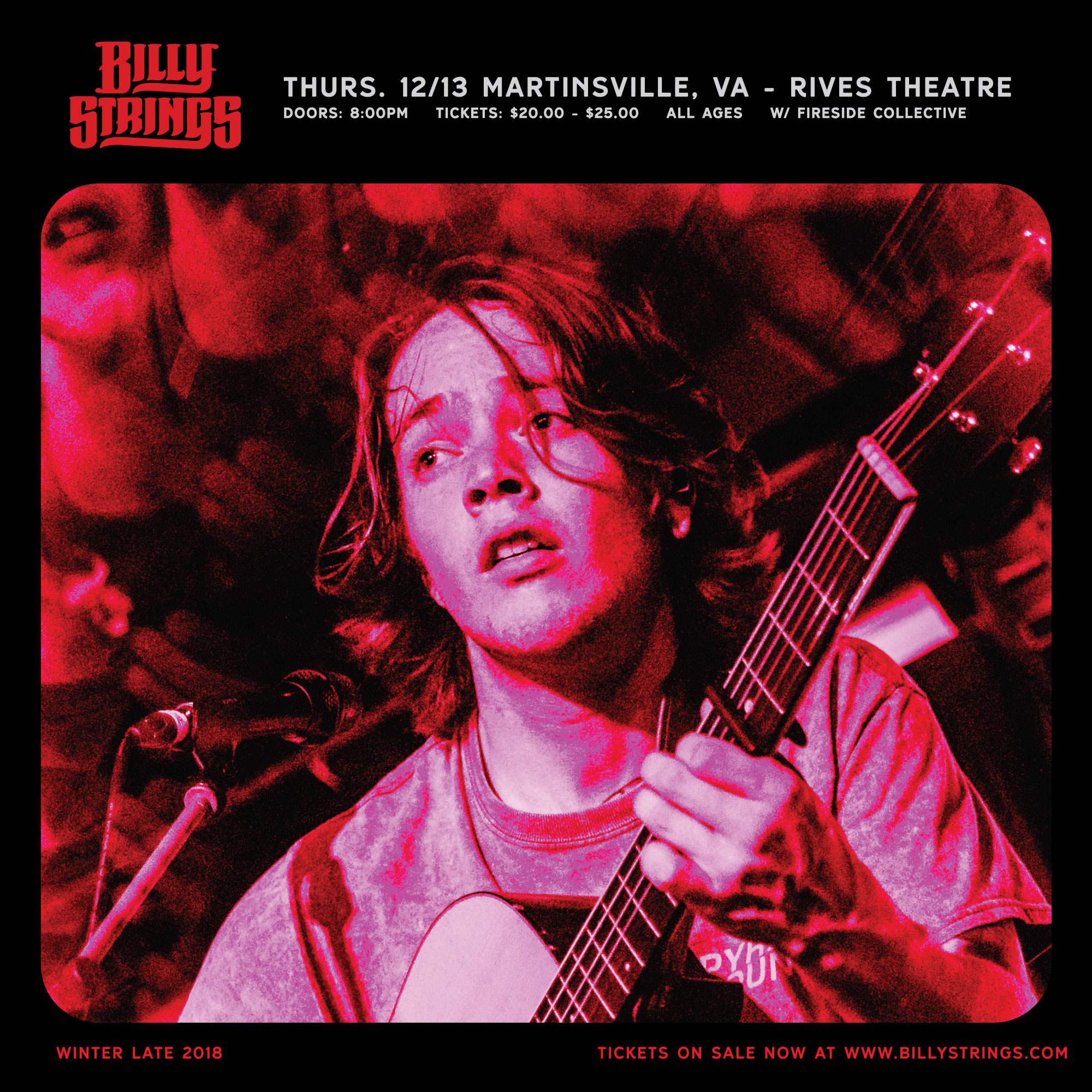 Photo of SOLD OUT - Billy Strings - Dec. 13 - Rives